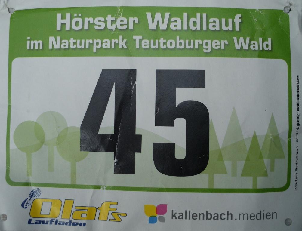 Hörster Waldlauf 2019 - Startnummer