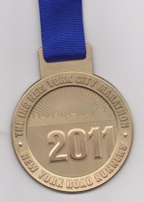 Medaille - New York City Marathon 2011