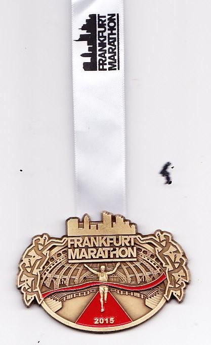 Frankfurt Marathon 2015 - Medaille