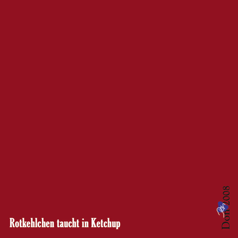 Rotkehlchen taucht in Ketchup - by Don2008