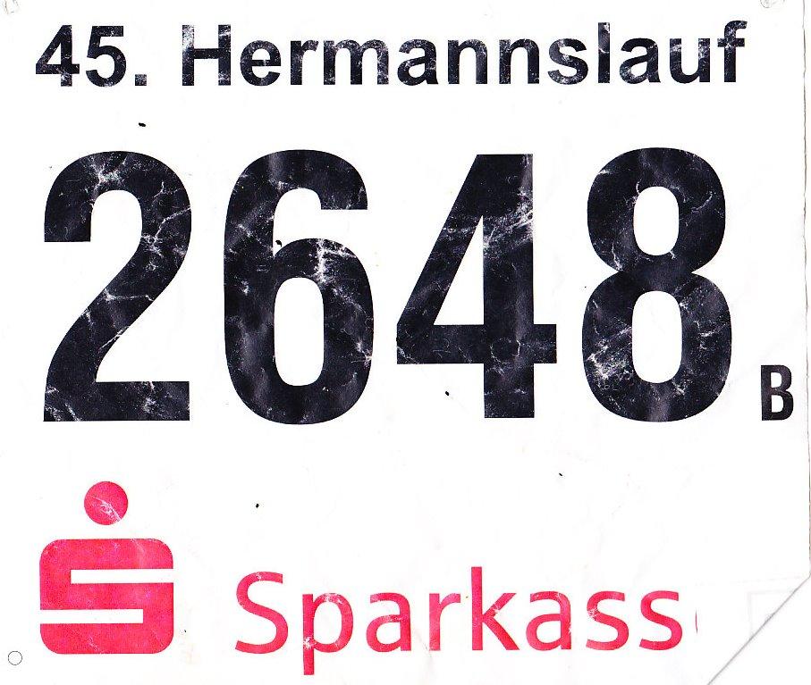Hermannslauf 2016 - Startnummer