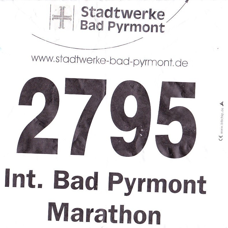 Bad Pyrmont (Halb-) Marathon 2013 - Startnummer
