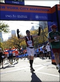 New York Marathon 2011 - DSK Finish Line