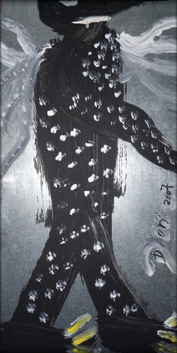 Ikarus - Acryl auf Metall - 25 x 50 cm - by Don07