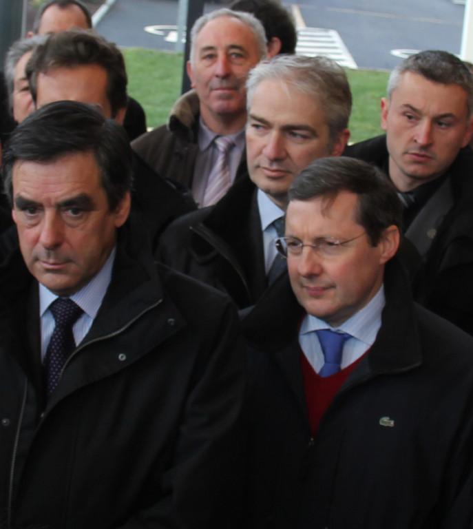 François Fillon visite Mortain, janvier 2011