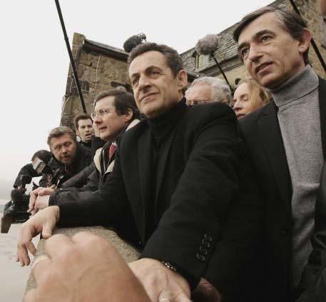 Au Montt St Michel avec Nicolas Sarkozy