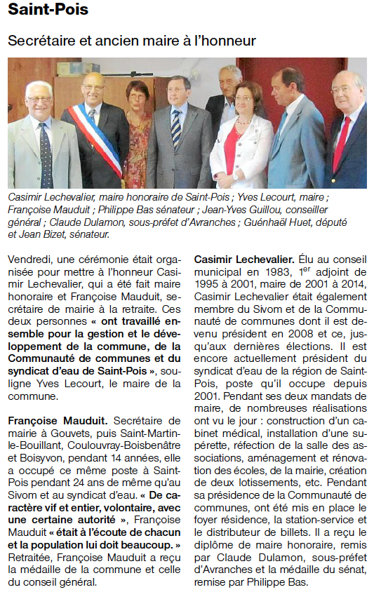 Ouest-France, 07.10.2014