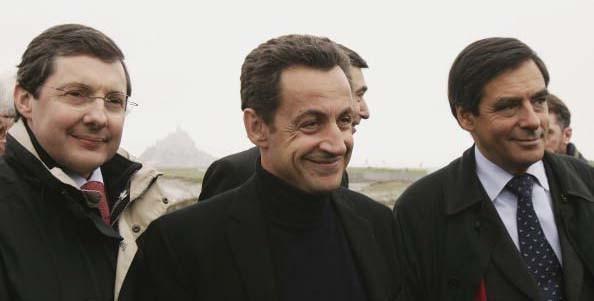 Au Mont St Michel avec Nicolas Sarkozy et François Fillon