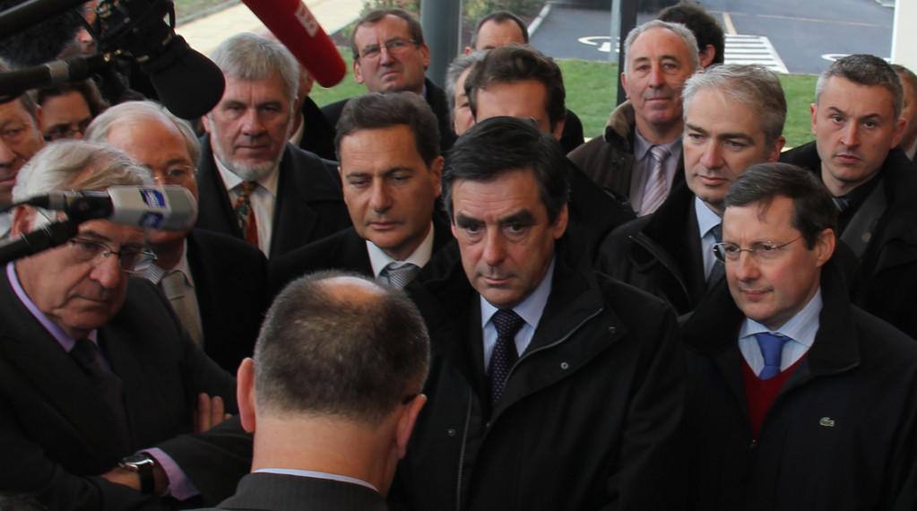 Visite à Mortain de François Fillon, janvier 2011