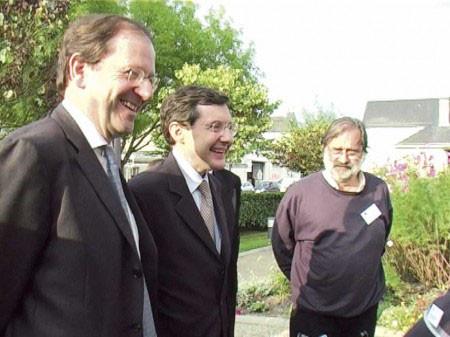 Visite en Indre-et-Loire avec Hervé Novelli