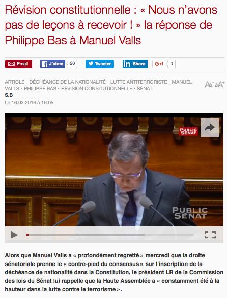 Cliquez sur l'image pour voir les interventions de Philippe Bas au Sénat
