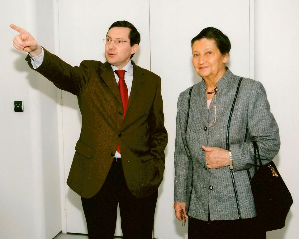 Simone Veil et Philippe Bas