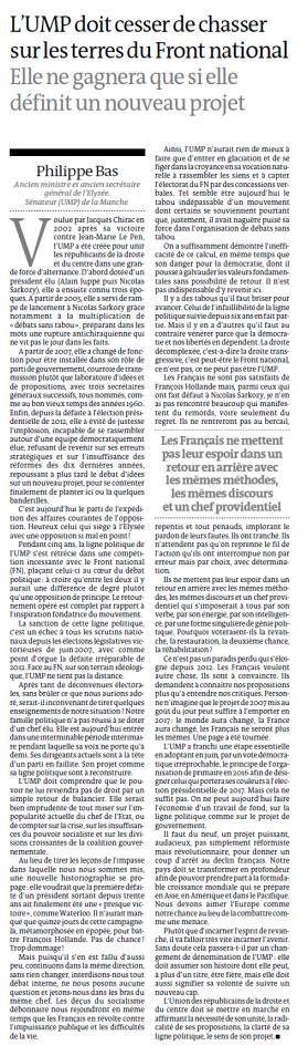 Tribune Le Monde du 30 juillet 2013