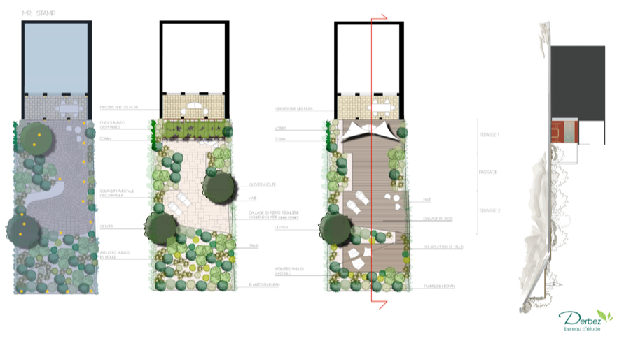 "2013_Project of the garden of a ""maison de pêcheur"" with views of the Gulf of St Tropez (Ramatuelle, Costa Azzurra,FR)"