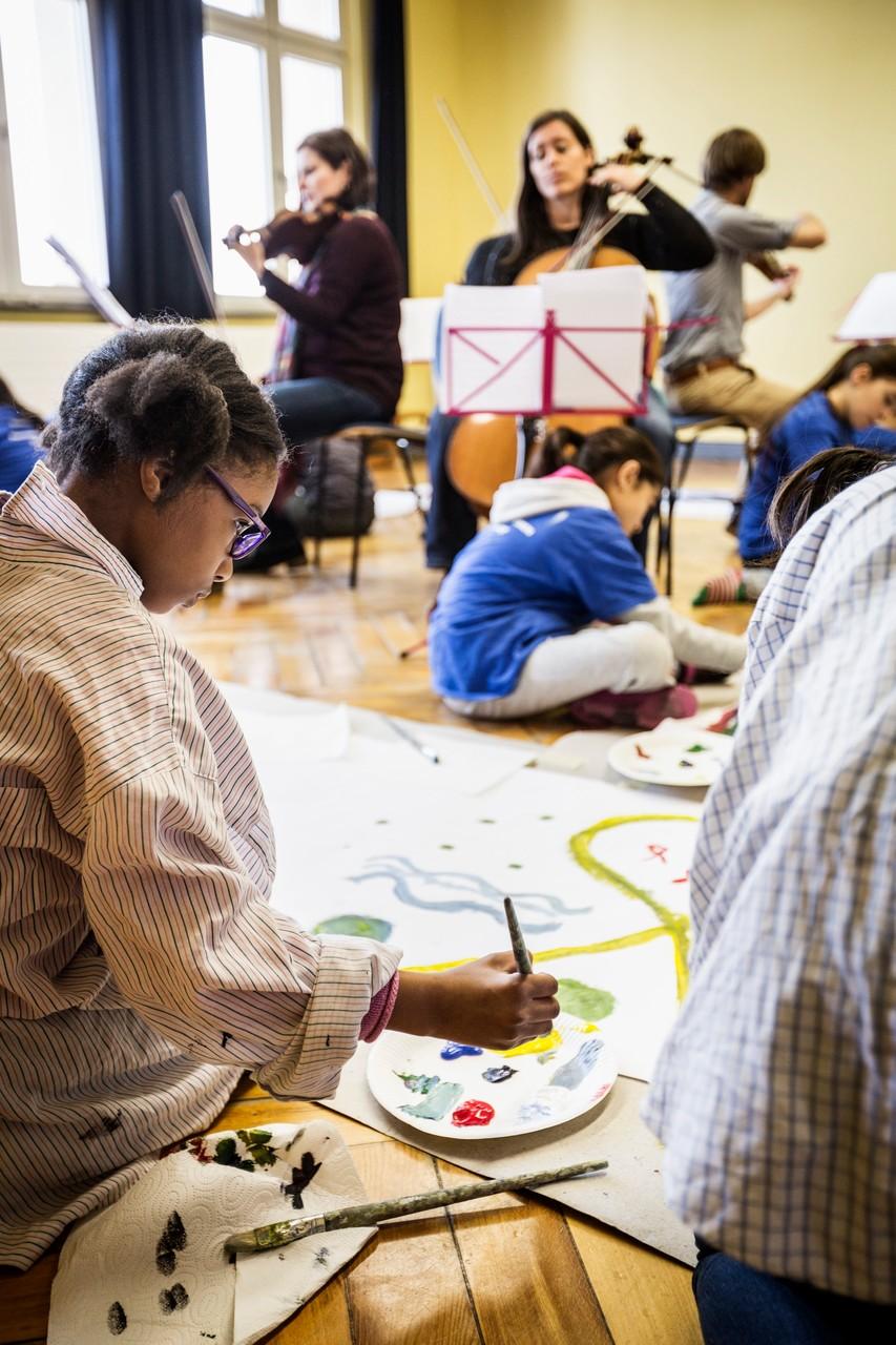 Die Arbeit mit den Kunstgruppen