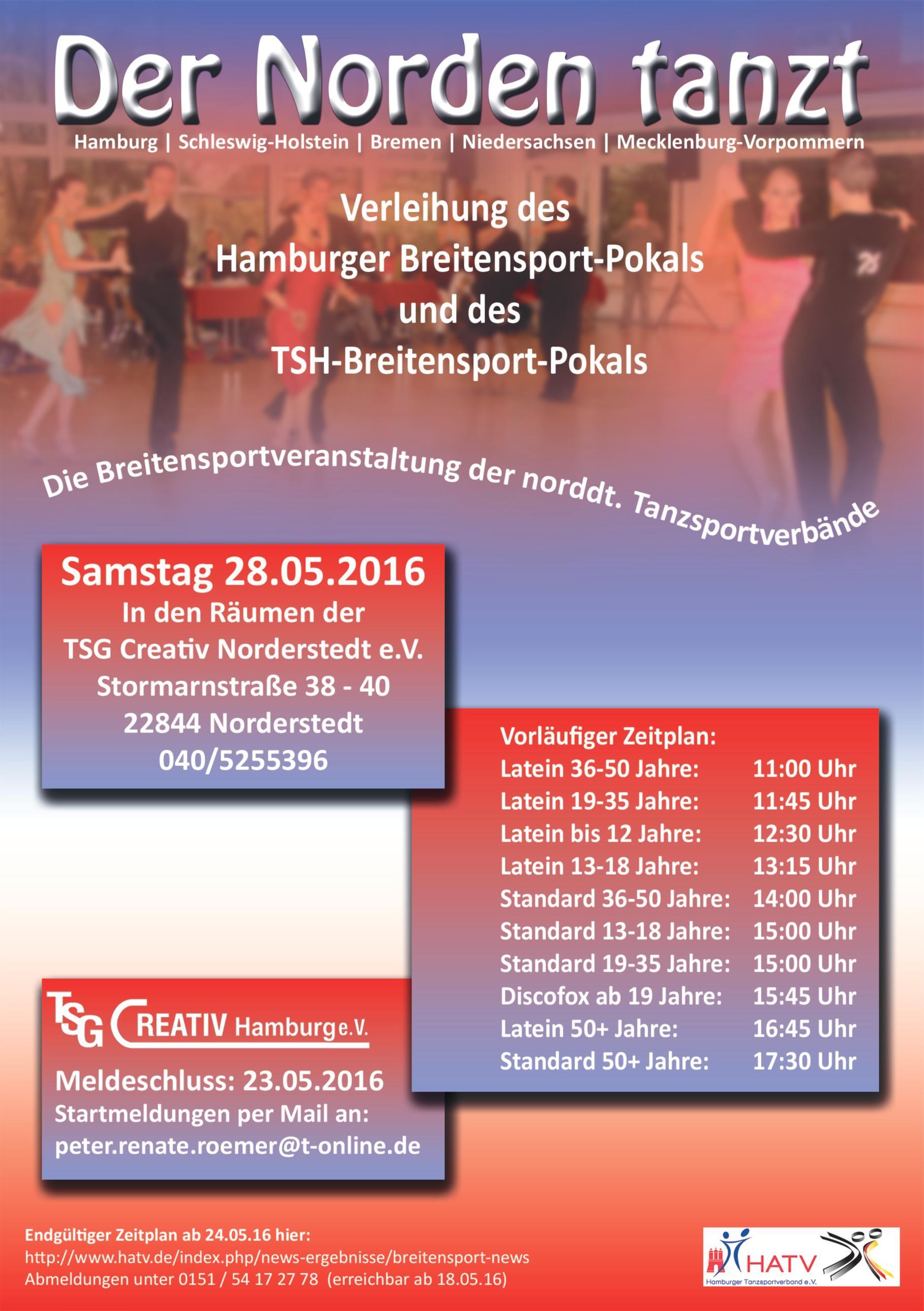 Der Norden tanzt am 28.05.2016 - tsg-creativ-norderstedt Jimdo-Page!