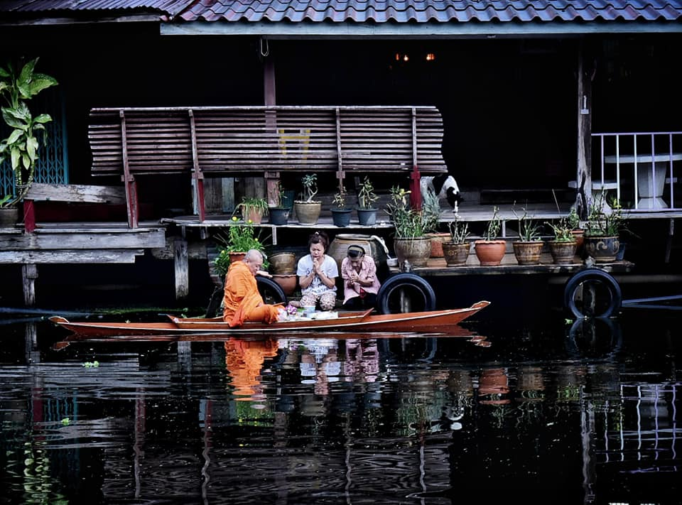 Buddhism in Thailand is practiced in daily life.