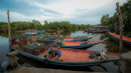 Local muslim fishermen