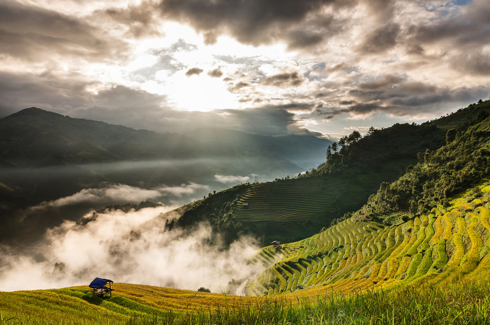 Mountain Scene in North Vietnam