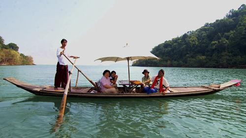 Boat ride in Vietnam