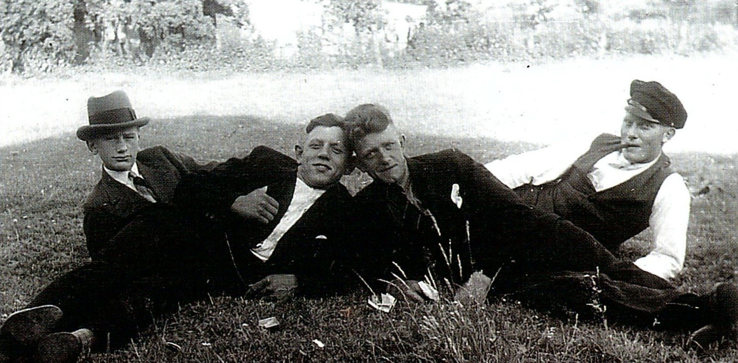 v.l.n.r.: Gottfried Peschel, Otto Elwig, Friedrich Kohlhoff, Hans Tietjens