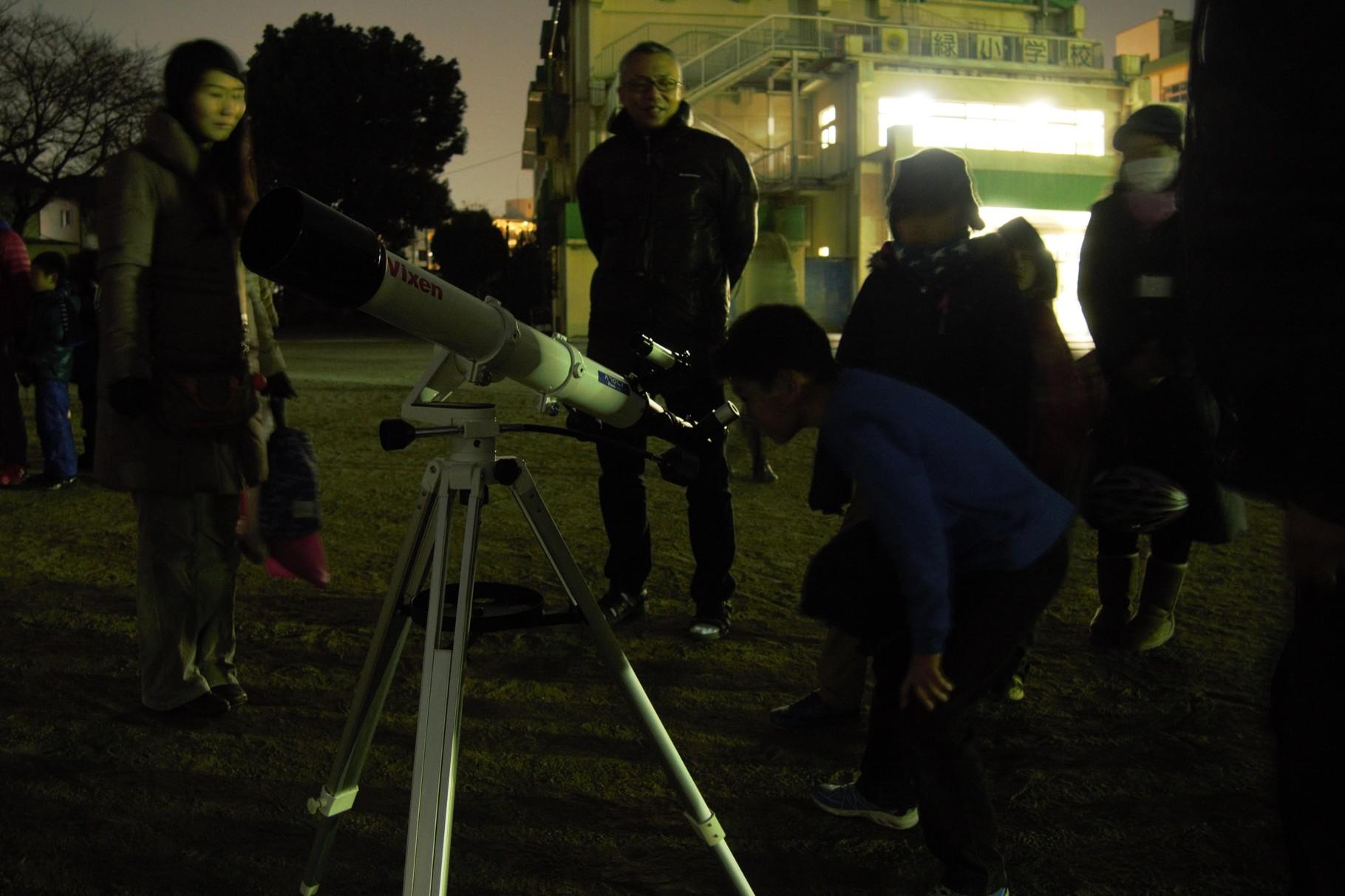 自身の望遠鏡を持ってこられた方もいました。