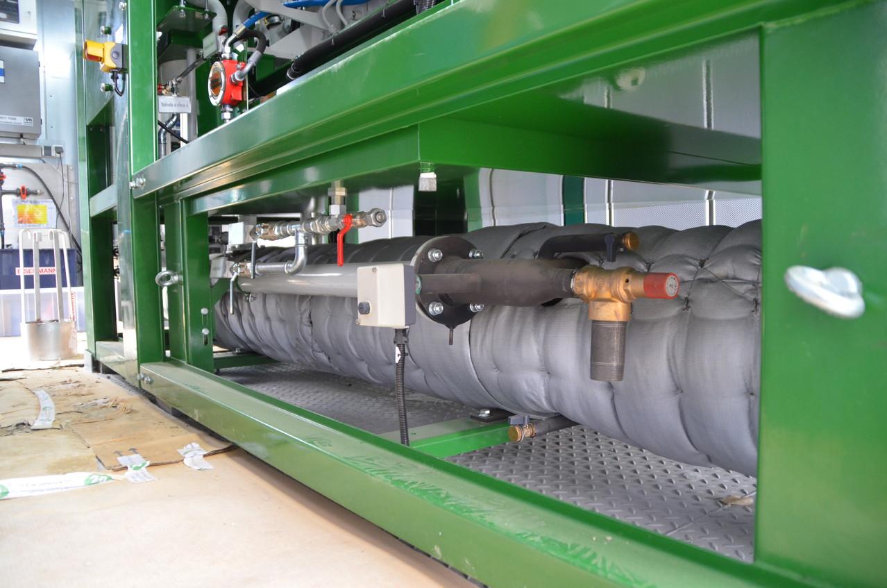 Recupero di calore dai fumi del cogeneratore