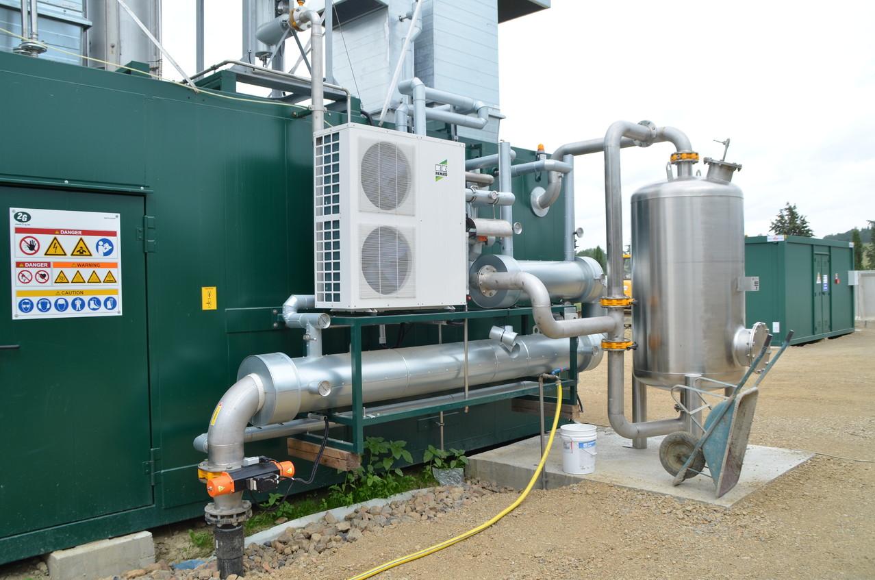 Sistema di raffreddamento e purificazione del biogas