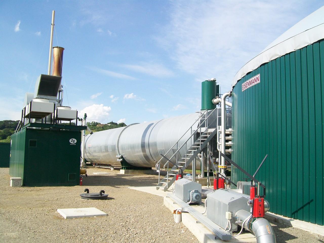Sistema di cogenerazione adiacente all'impianto di biogas