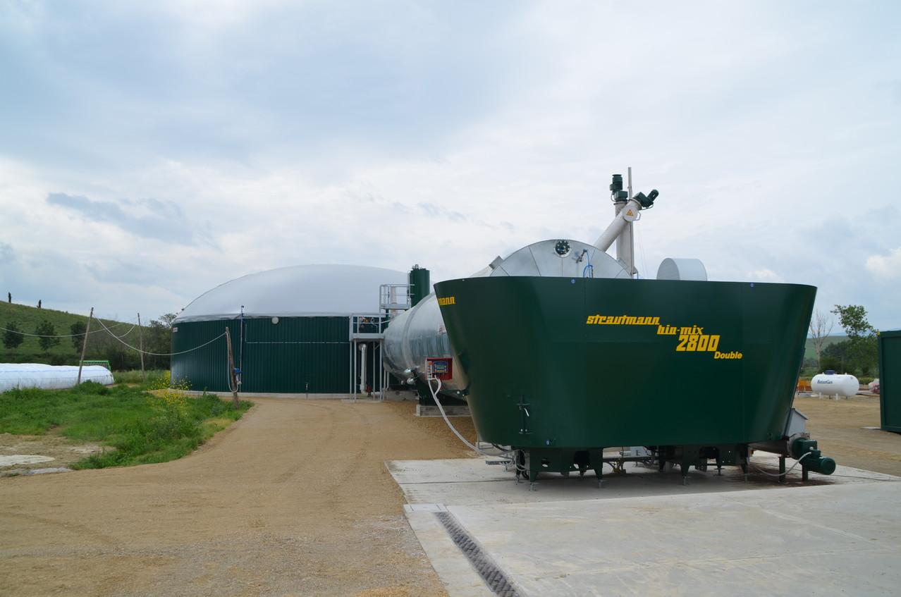 Tramoggia di carico dell'impianto biogas