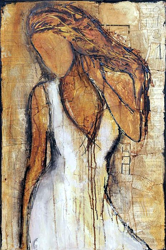 Womans Art-Original Oil Painting-Bild 40 cm x 60 cm