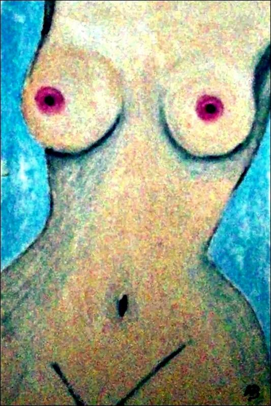 Aktmalerei-Frau-Akt-Nude-Mädchen-Ölgemälde-Ölmalerei