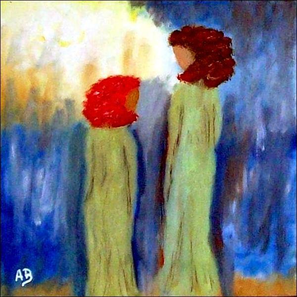 Engelgemälde-Ölmalerei-Frau-Mädchen-Engel-Feminal-Figural-Kind-Menschen-Ölbild-Ölgemälde