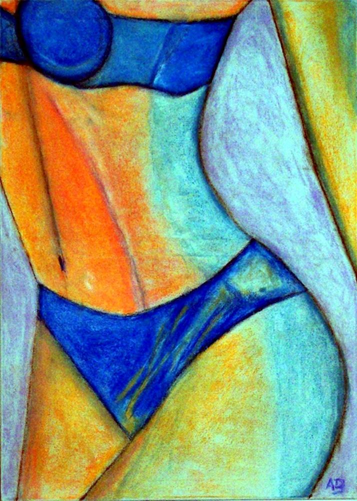 Erottischer Frauenkörpe, Pastellgemälde, Frau, Akt, Erotik, Girl, Feminal, moderne Malerei, Pastellbild, Pastel
