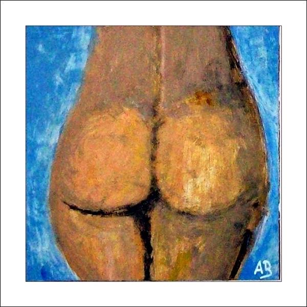 Aktmalerei-Frau-Ölmalerei-Nude-Mädchen-Moderne Malerei-Ölbild-Ölgemälde