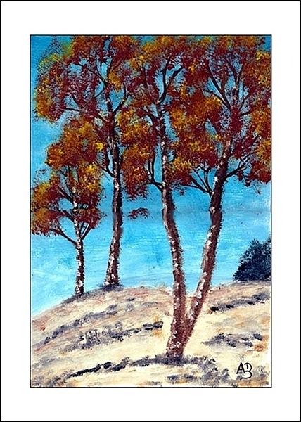 Berglandschaft im Winter, Ölmalerei