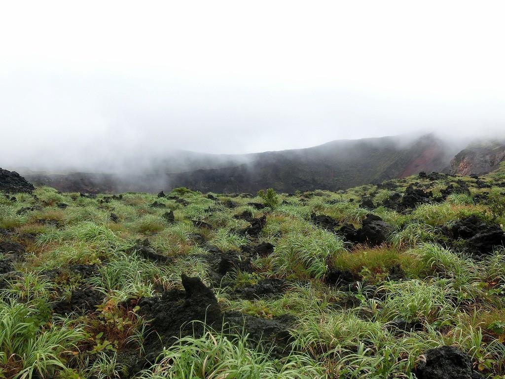 地面からあちこち突き出る溶岩原