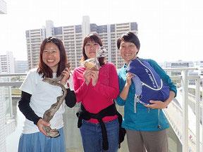 もっちー(左)、ポーリン(中央)、5月の講師ときちゃん(右)。講師大集合。5月のシンデレラも5/21まで受付中です♪