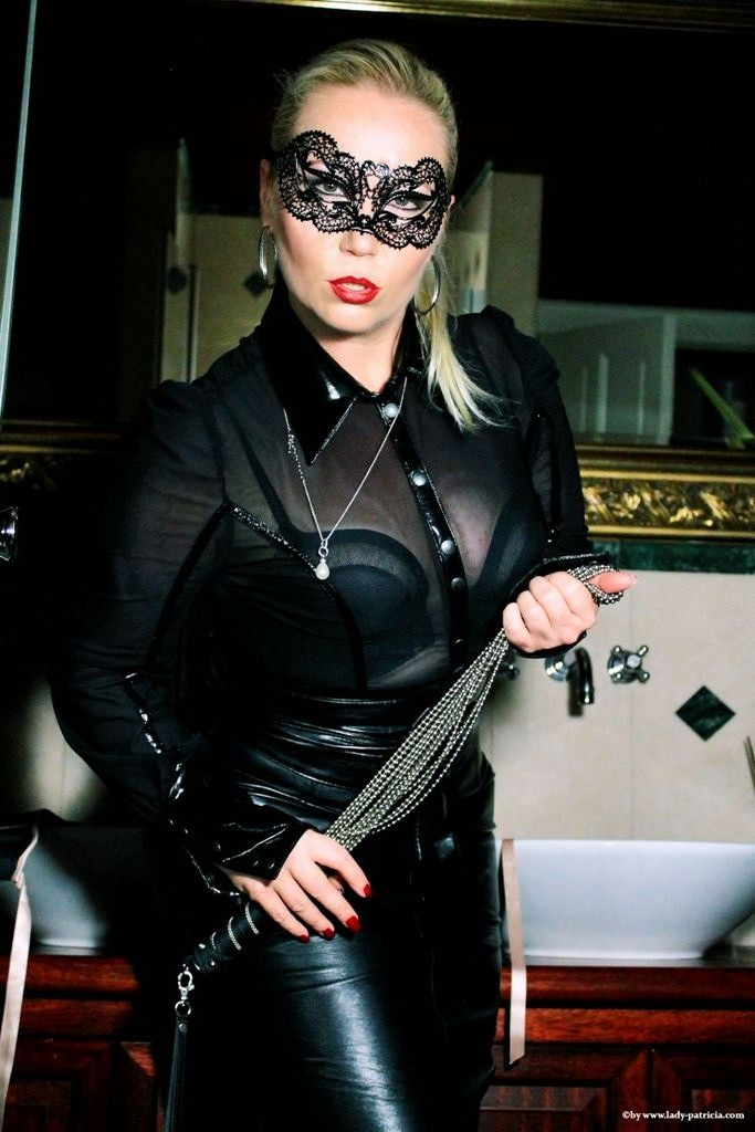 image The leather domina leather bondage cock and ball torture