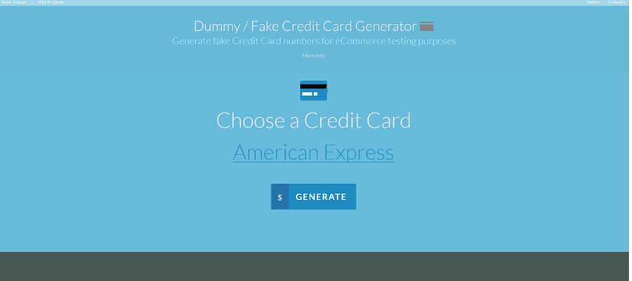 テスト用のフェイクカード番号が発行できる dummy fake credit card