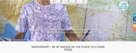 Map on Shirt