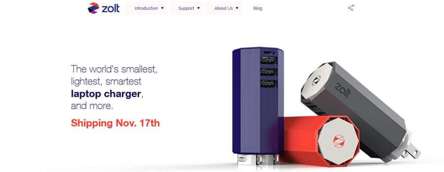 Zoltウェブサイト画像