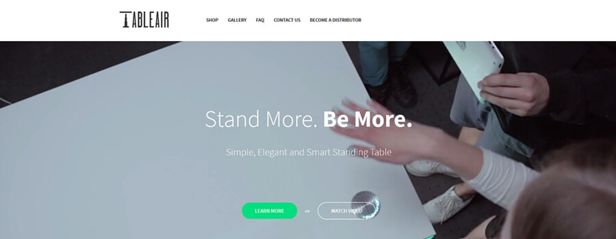 TabelAirウェブサイト画像