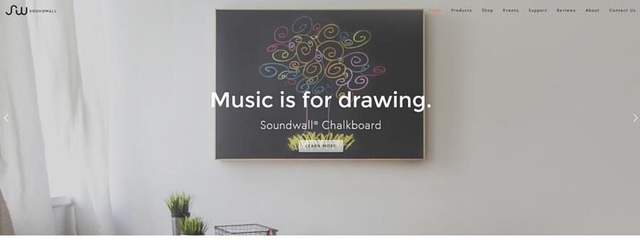 Soundwallウェブサイト画像