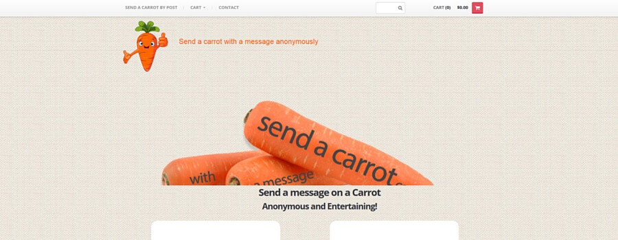 SEND A CARROT BY POST