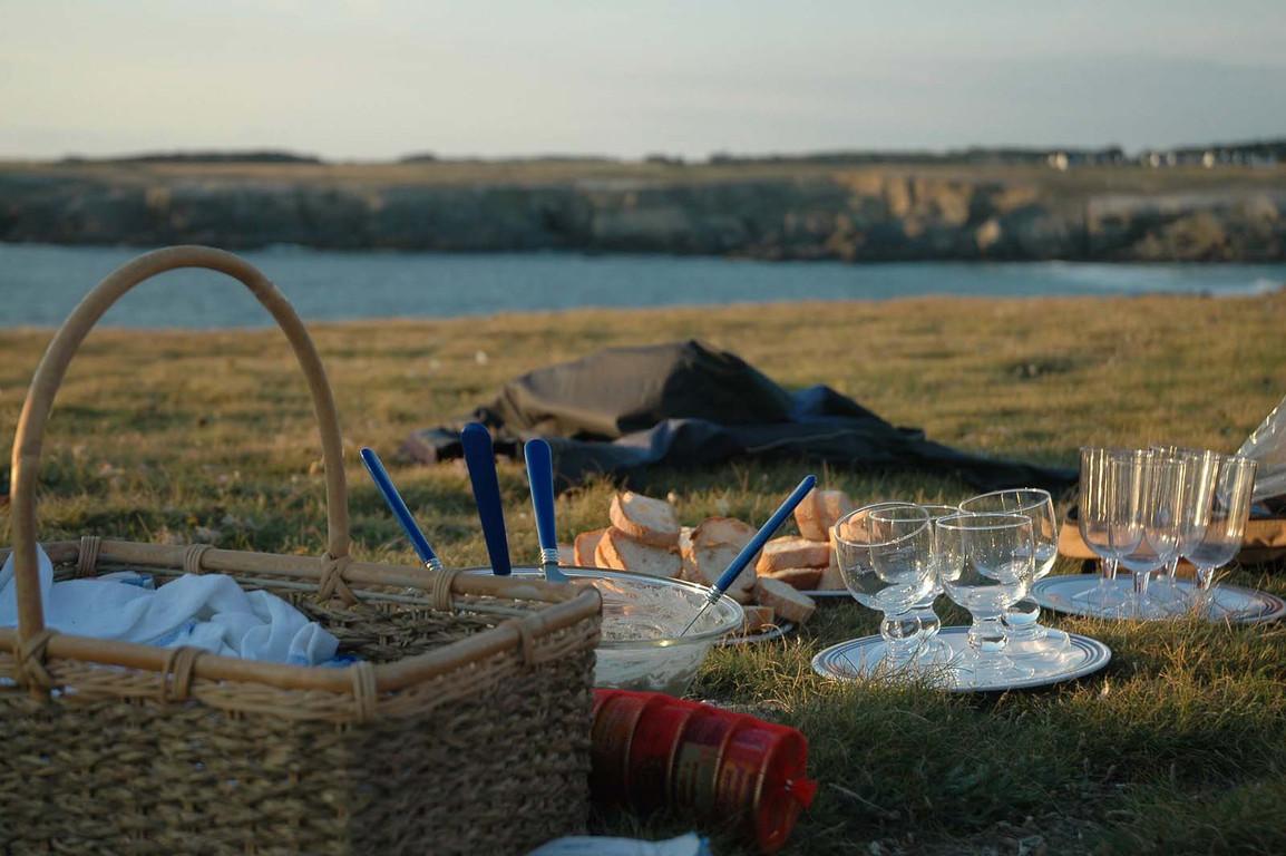 Gite Belle Ile - Apéro le soir pour le coucher du soleil