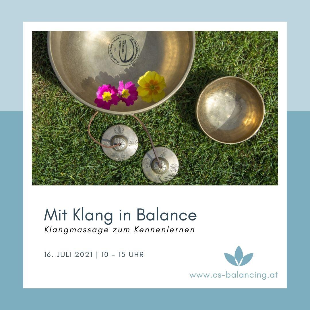 Aktionstag: Mit Klang in Balance | Klangmassage zum Kennenlernen