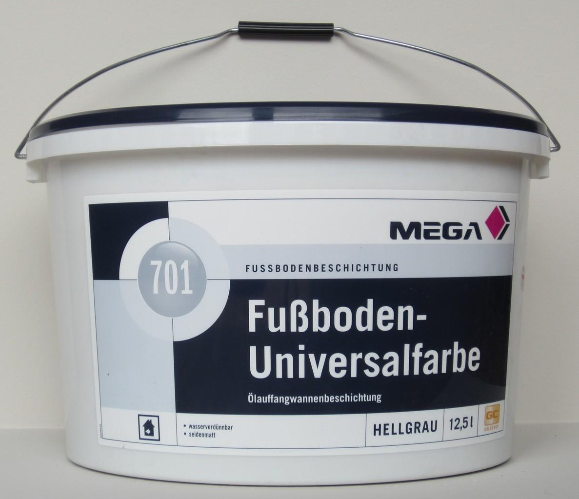 Mega Fussboden Universalfarbe 701 12 5 L Hellgrau Mega