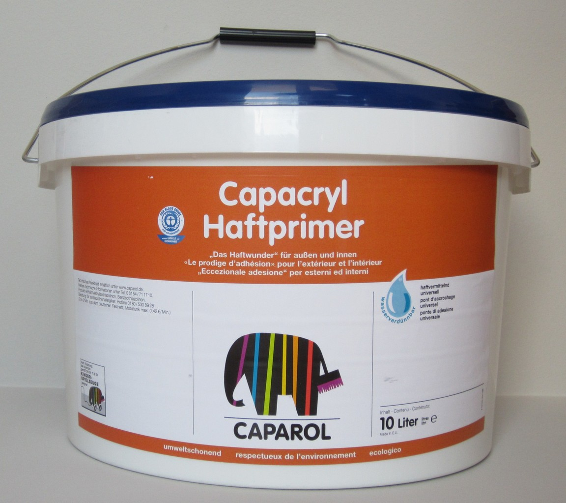 caparol capacryl haftprimer 10 l leisten more shop. Black Bedroom Furniture Sets. Home Design Ideas