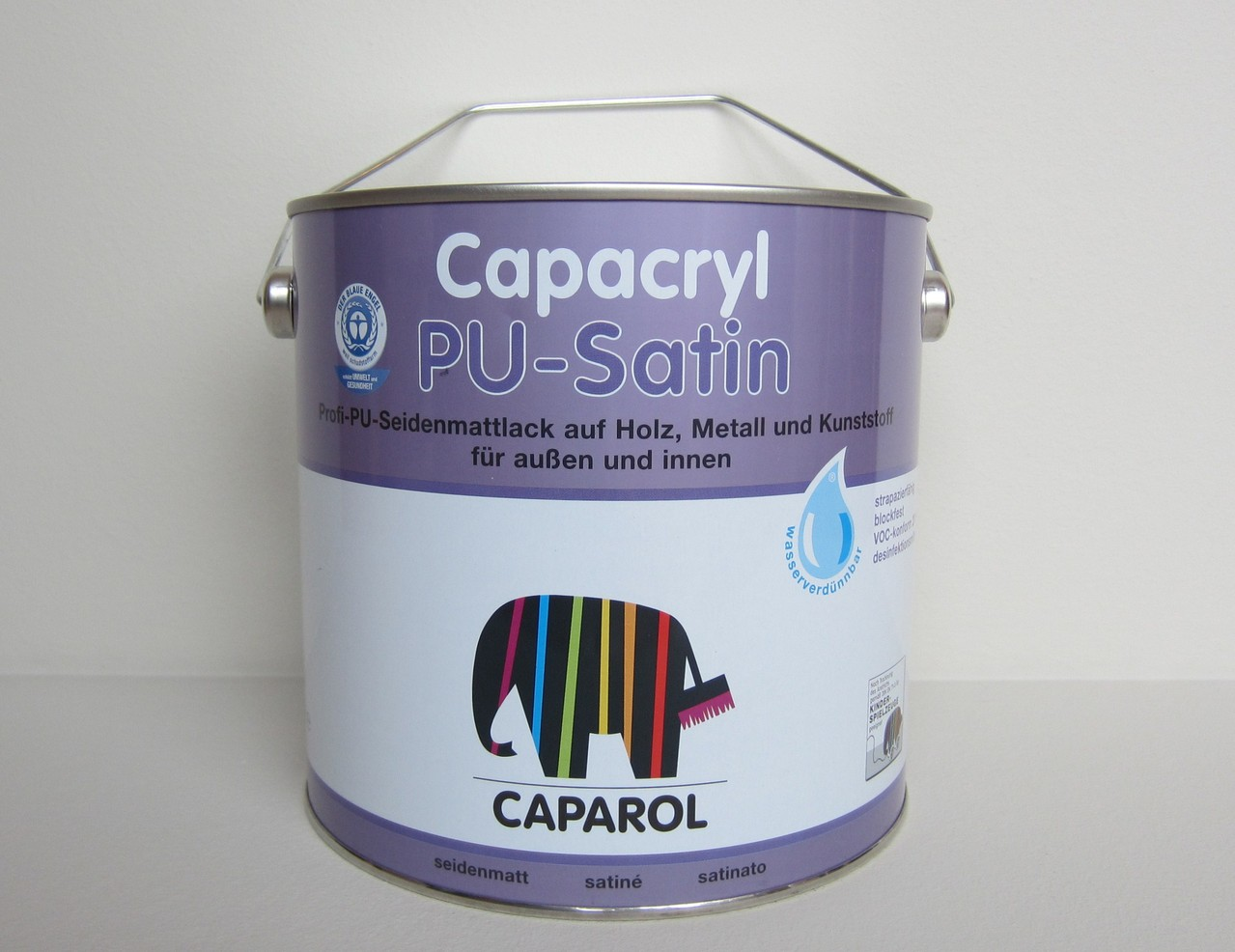 caparol capacryl pu satin 2 5 l leisten more shop. Black Bedroom Furniture Sets. Home Design Ideas